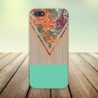 Chevron Fall Leaves Wood Case for iPhone 6 6+ iPhone 5 5s 5c iPhone 4 4s and Samsung Galaxy s5 s4 & s3