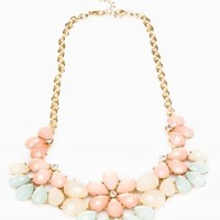 Mixed Floral Statement Necklace