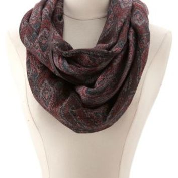 Diamond Woven Infinity Scarf by Charlotte Russe - Multi