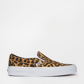 Vans Classic Leopard Slip On Trainers