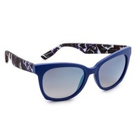 Patterned Side Mirrored Sunglasses