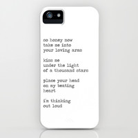 Thinking Out Loud  iPhone & iPod Case by mysteryxmeow
