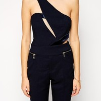 Three Floor Legacy Jumpsuit With Asymmetric Detail
