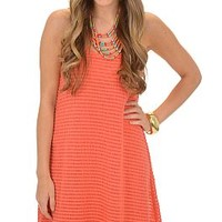 Summer Lovin Dress, Coral :: NEW ARRIVALS :: The Blue Door Boutique
