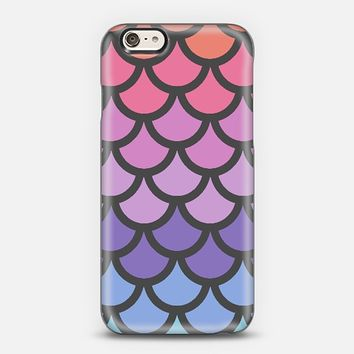 Sunset Ombre Mermaid Scales iPhone 6 case by Organic Saturation | Casetify