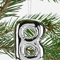 Silver Balloon Letter Ornament - Urban Outfitters