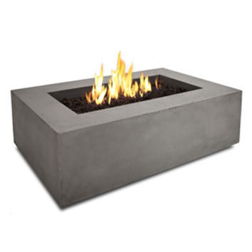 Real Flame Baltic Rectangle Nat Gas Fire Table- Glacier Grey