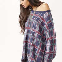 PLAID LENON SWEATER