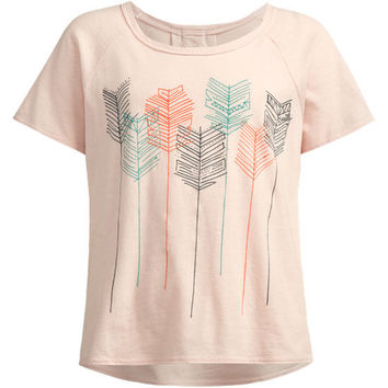 O'neill Follow Rivers Girls Tee Pink  In Sizes