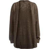 Full Tilt Essentials Girls Hooded Cardigan Charcoal  In Sizes