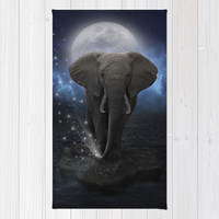 Power Is No Blessing In Itself (Protect the Elephants) Area & Throw Rug by soaring anchor designs ⚓ | Society6