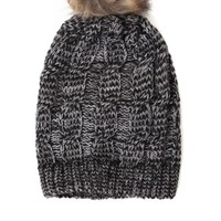 With Love From CA Slouchy Pom Beanie - Womens Hat - Black - One