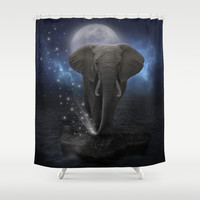 Power Is No Blessing In Itself (Protect the Elephants) Shower Curtain by soaring anchor designs ⚓ | Society6
