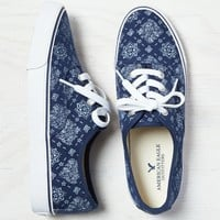 AEO Lace-Up Sneaker, Indigo   American Eagle Outfitters