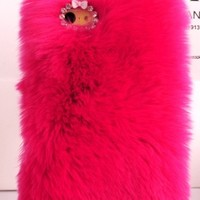 Hot Neon Pink Cozy Furry Fuzzy Cell Phone Case