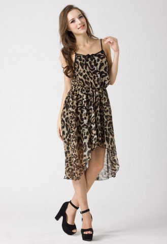 Leopard Print Slip Dress - Dress - Retro, Indie and Unique Fashion