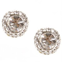 Crystal Gem Stone Stud Earrings
