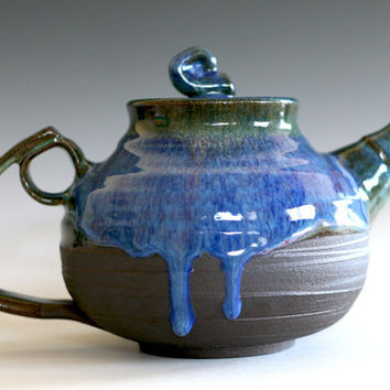 Ceramic Teapot, 42 oz, Handmade Stoneware Teapot, Ceramic Teapot, tea pot, unique teapot