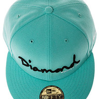 The OG Script Fitted Hat in Diamond Blue