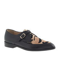 CALF HAIR TWO-TONE LOAFERS