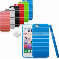 5.5 Inch For iPhone 6 StripeTPU Soft Case Cover Free Shipping - DinoDirect.com