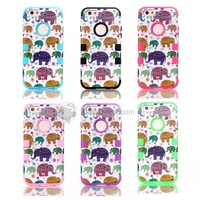For iPhone 6 The Elephant Silicone +PC 4.7 Inch Case Cover - DinoDirect.com