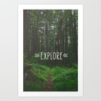 ›Explore‹ Art Print by Jane in the Woods