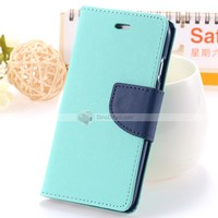 New arrival Mercury Double Color leather wallet Filp Case for iPhone6 6 6G - DinoDirect.com
