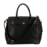 Designer Inspired Faux Crocodile Skin Textured Office/Casual/Tote Bag