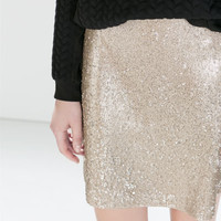 Sequinned tube skirt