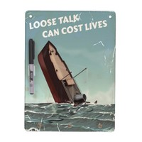 Loose Talk Cost Lives WW2 Poster