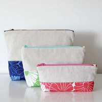 Pattern, Color Block Pouches, Makeup, Cosmetic Bag Pattern, Craft Supplies, Sewing Pattern