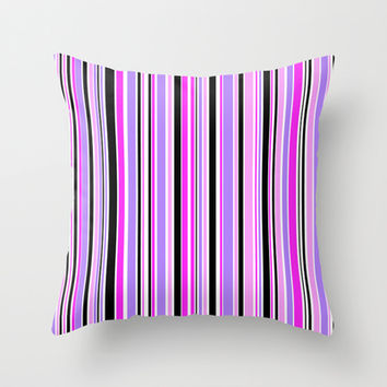 Candy Stripe 3 Throw Pillow by Alice Gosling