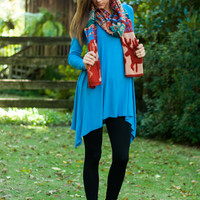 Chart Topping Tunic L/S, Blue