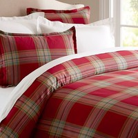 BLAKE PLAID DUVET COVER SHAM