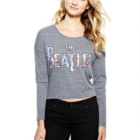 Floral Beatles Long-Sleeve Top