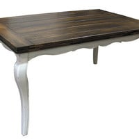 NEW Elegant French Country Table for custom finishing (bordeaux / cabriole legs)