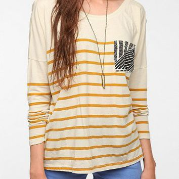 Truly Madly Deeply Contrast Pocket Long Sleeve Tee