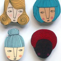 girly magnet set by hollandsworth on Etsy