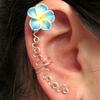 Flower Ear Cuff, Cartilage Ear Cuff, No Pierce Jewelry, Helix Earring, Prom 2015,  Keloid Earring, No Pierce Ear Wrap