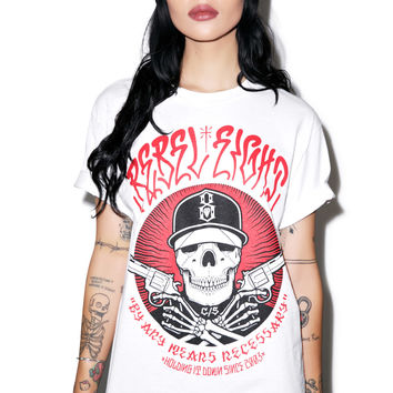 Rebel 8 Any Means Tee White