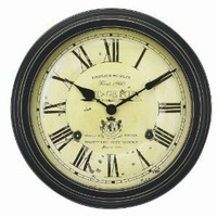 Chaney Instruments 18-Inch Vintage Port Wine Wall Clock: Amazon.com: Home & Kitchen