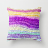 MINERAL MIND Throw Pillow by Catspaws | Society6