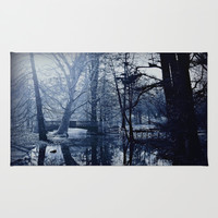 Reflective Thoughts In Parco Sempione Area & Throw Rug by Louisa Catharine Forsyth #society6
