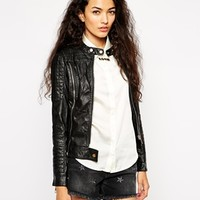 Glamorous Biker Jacket in Leather Look at asos.com