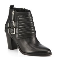 enabled: truelabel: Marc by Marc Jacobs-Quilted Leather Ankle Boots