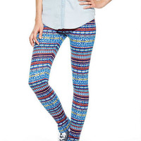 Intarsia Knit Leggings
