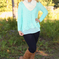 Sparkle & Shine Sweater: Aqua/Multi