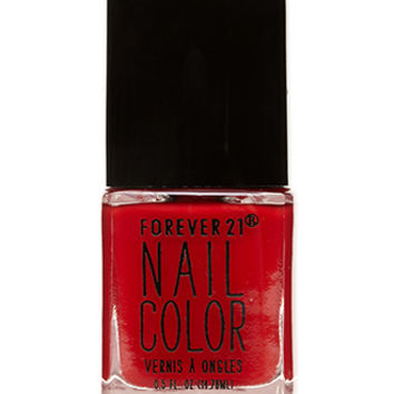 FOREVER 21 Ruby Red Nail Polish Sophisticate One