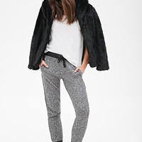 FOREVER 21 Heathered Joggers Heather Grey/Black